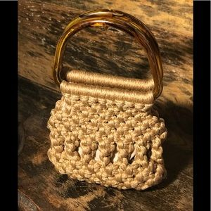 70's Crocheted/Macrame Bo Ho Mini Bag